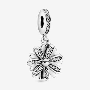Pandora Sparkling Daisy Flower Dangle Charm